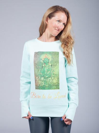 goddess spirit green tara sweater 1