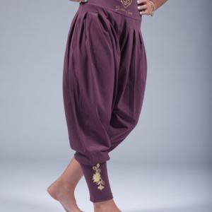 goddess spirit harem pants burgundy 2