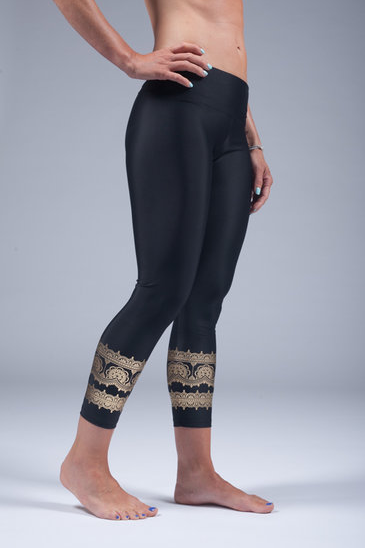 goddess spirit leggings black