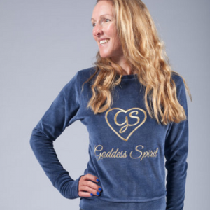 goddess spirit velour sweater blue 1