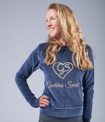 goddess spirit velour sweater blue 1